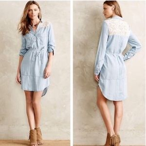 Holding Horses Chambray Lace Dress Size Small